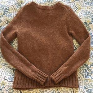 JCrew brown wool sweater